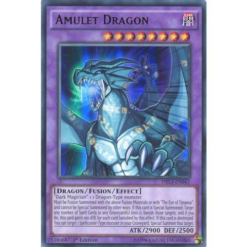 YuGiOh : DRL3-EN043 1st Ed Amulet Dragon Ultra Rare Card - ( Yu-Gi-Oh! Single Card ) by Deckboosters