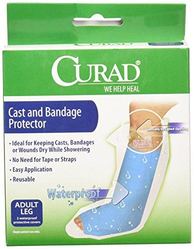 Medline CUR200ALL Curad Cast Protectors Adult Leg, Waterproof (Pack of 6)