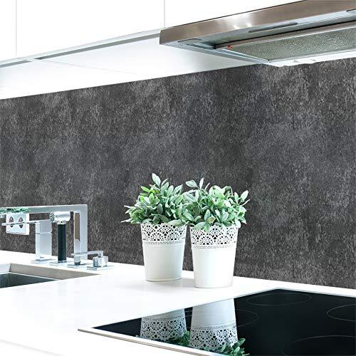 Keuken achterwand leisteenstructuur antraciet Premium hard PVC 0,4 mm zelfklevend - direct op de tegels 60 x 51 cm