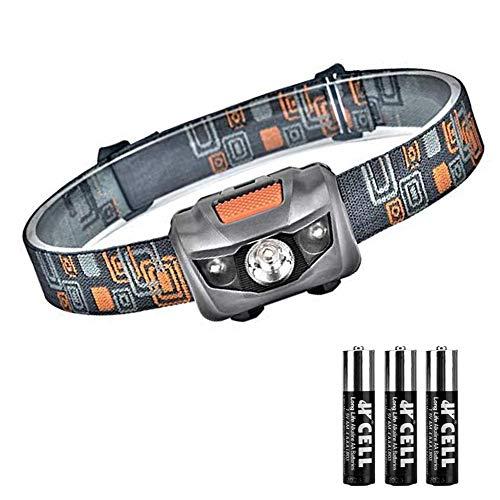 Linkax Linterna Frontal LED Linterna de Cabeza Super Brillante 120 Lúmenes Lampára de Cabeza Impermeable Luz Frontal 4 Modos Para Camping Pesca Ciclismo Carrera Caza 3 Pilas AAA incluidas