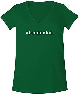 #Badminton - A Soft & Comfortable Women's V-Neck T-Shirt