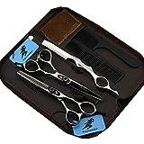 Juego de tijeras japonesas , de peluquería profesional, de aleación 440c, ideales para peluquería o uso doméstico, 15,24cm, color dorado o plateado y negro