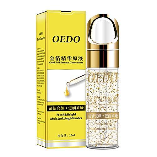 Gold Serum Feuchtigkeits für Anti-Falten Anti Aging Firm Brighten Skin Lighten Fine Lines Gesichtsserum Aufhellendes und Faltenglättendes Serum