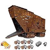WANZPITS Technic Sandcrawler Cavegod UCS Modelo De Arquitectura con Interior Completo, Conjunto De Edificios De Componentes De Ensamblaje De 13168 Piezas, Compatible con Lego Star Wars,Vistoso