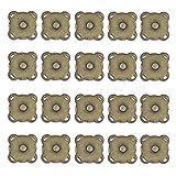 HEALLILY 20Pcs Broches Magnéticos para Monedero Cierre de Cierre de Bolsa Magnética Coser en Botón de Bolsa de Flor de Ciruelo Magnético para Bolsos Bolsas Ropa 15Mm Bronce