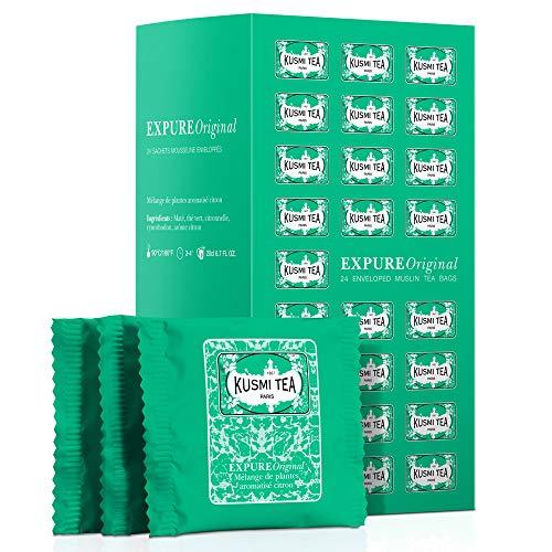 Kusmi Tea - Expure Original - Mischung mit Mate, grünem Tee und Zitronengras, aromatisiert - Zitrone - 24 einzeln verpackte Teebeutel