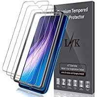 LK [3 Pack] Protector de Pantalla para Xiaomi Redmi Note 8 Cristal Templado, [9H Dureza] [Equipado con Marco de posicionamiento] [Resistente a Arañazos] Vidrio Templado Screen Protector