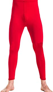 YOUCAI Men's Warm Fleece Lined Underwear Pants Trousers Thermal Leggings Base Layer Tights Bottom Plus Size