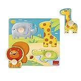 Goula- Animales Selva Conjunto de Puzzles, Multicolor (53004)