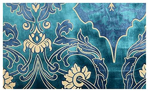 Ventana Cantidad romántica Cortina con cuentas for sala de estar Cortinas azules de oro Cortinas de terciopelo azul Cortina de valencia for sala de estar Textiles de hogar Moderno Luz de lujo simple