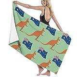 zhengshaolongG Toalla de baño Australian Flag Kangaroo Unisex Beach Towels Bath Towels Teen Adults 31x51 Inches