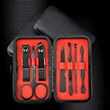 Set Household Household Stainless Steel Nail Clipper Set-7-piece set black