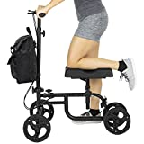 Vive Knee Walker - Steerable Scooter For Broken Leg, Foot, Ankle Injuries - Kneeling Quad Roller Cart - Orthopedic Seat Pad For Adult and Elderly Medical Mobility - 4 Wheel Caddy Crutch - Bag Included