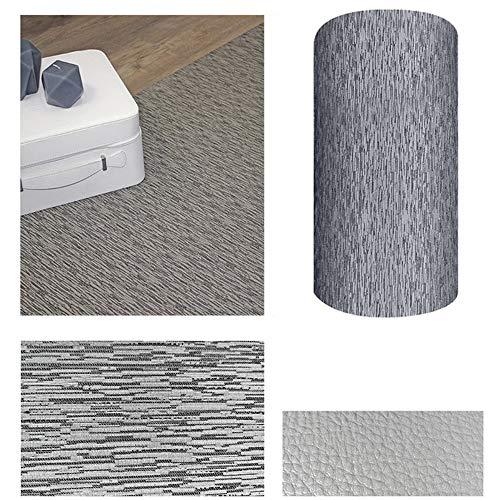 Comercial Candela Alfombra de Pasillo de Textil Resinado Antimanchas, Lavable   Base PVC Antideslizante y Aislante Diseño Lluvia Color (Gris, 65_x_250 CM)