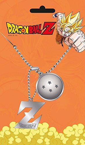 Dragon Ball Dog-Tag Kette 2 Anhänger 4 Sterne Dragonball Z Logo Metall