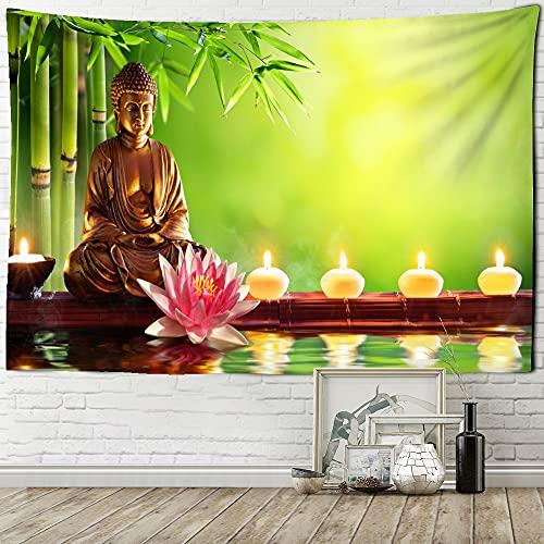 YiXing Tapiz de Buda indio para colgar en la pared, fe budista, loto bohemio, hippie, ciencia ficción, arte mágico, decoración del hogar, tapiz de pared (color: GT603 2, tamaño: 200 x 150 cm)