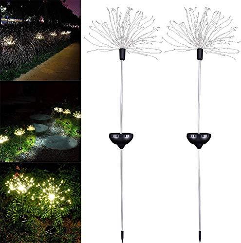 LINANNAN 2 Explosion Solaire extérieur installé Jardin Lampe en Forme de lumières 120LED feux d'artifice Solaire Illuminant 40 modèle Cuivre lumières-8 paysage chaîne de Fil pour Jardin pelouse te.