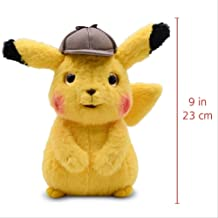 Soft Plush Toy, Pikachu ,plush Toys Doll Pikachu Mr. Mime Stuffed Plush Soft Toys Kawaii Doll Children's Birthday Gift Bulbasaur 2 (Color : Detective Pikachu)