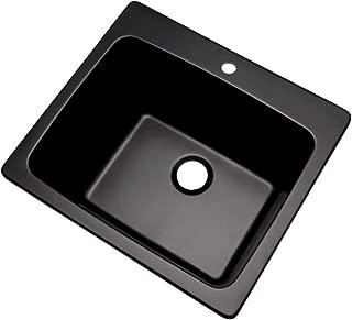 Dekor Sinks 42199NSC Westworth Composite Utility Sink with One Hole, 25