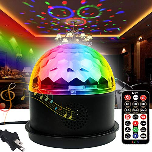 Disco Lights Party Lights Bluetooth Speaker TONGK LED Magic Ball Colorful Mirror Ball Disco Lights Sound Activated Strobe Light for Home Party Gift Birthday Halloween Dance Bar Xmas Wedding Show Club
