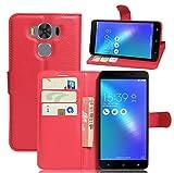 NEKOYA Coque ASUS Zenfone 3 Max(5.5)/ZC553KL,Etui ASUS ZC553KL,Coque Pochette Portefeuille Fentes...