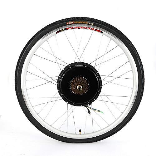 """MINUS ONE Kit de conversión de Bicicleta eléctrica de 28"""", Kit de conversión de Bicicleta eléctrica para Rueda Delantera y Trasera, Color Rueda Trasera, tamaño 36V 800W"""