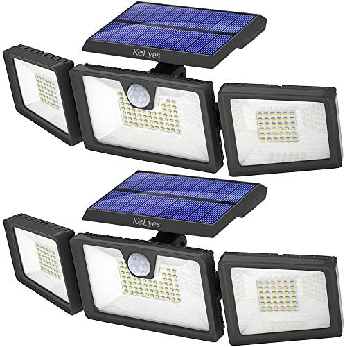 KOLYES Solar Lights Outdoor 2 Pack 132 LED 1000LM Bright Wireless Solar Motion Sensor Lights product image