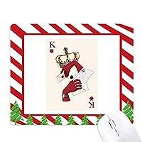 カードの心をk個のパターンの演奏 ゴムクリスマスキャンディマウスパッド