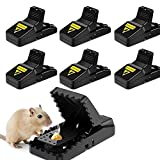 Fulfun Rat Trap, Humane Mouse Traps for Indoors and Outdoors, Reusable and Easy to Use Snap Mice Catcher, Safe & Effective-6 Pack