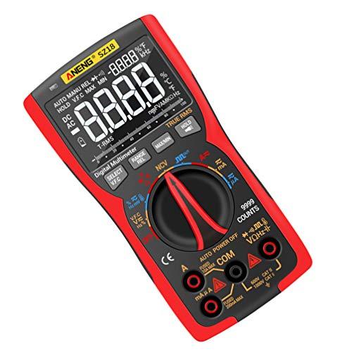 TEHAUX Aneng Sz18 Digital Multimeter 9999 Zählt Strommesser Ohm Tester Spannungsmesser Tester Lcd Bildschirm Volt Meter für Arbeitshardware Fabrik Büro (Keine Batterie)