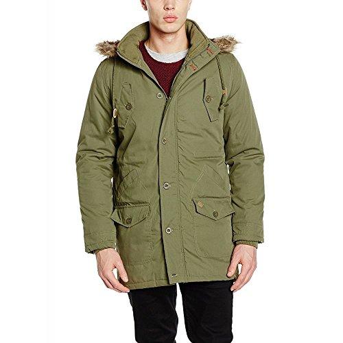 Lee Cooper Mens Jacket Bitton Chaquetas, Verde (Burnt Olive), L para Hombre