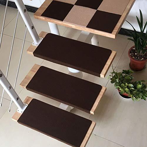 Carpet Stair 15 stuks trapmatten, tapijt-trapmatten, trapbekleding, tapijt-trapbekleding, meerkleurig zelfklevend, 65 x 22 cm