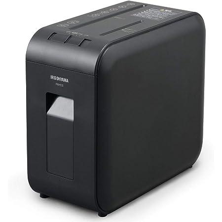 アイリスオーヤマ 静音シュレッダー 超静音 家庭用 細断枚数6枚 クロスカット 連続使用10分 CD/DVD/BD細断可能 ダストボックス7.5L A4/60枚収容 P6HCS-B ブラック