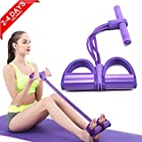 ZCZY Corde de Tension Multifonctionnelle,Élastique Tension Pied de Pédale,Sit-up Bodybuilding Expander,4 Tube Jambe Exerciseur Pull Cordes Bandes pour Gym à Domicile Exercices jambes,ventre