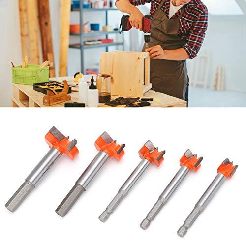 Juego de brocas Forstner, herramienta de corte, 5 piezas, abridor de agujeros de madera para taladrar, para taladradora manual