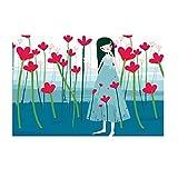 YXQSED Madera enmarcada DIY Pintura por Números Pint por Número de Kits for Adultos Mayores Avanzada Niños Joven - Petal Girl(62) 20x30cm