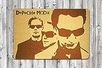 Depeche Mode ドアマット ウェルカムエントランスフロアマット ホームインテリア ホーム用品 屋外インテリアアクセサリー ユニークなギフト ハンドメイド プレゼント アイデア オリジナルデザイン パーソナライズドアマット
