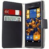 mumbi Tasche Bookstyle Case kompatibel mit Nokia Lumia 730/735 Hülle Handytasche Case Wallet, schwarz