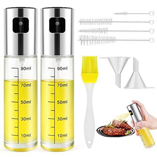 Minishark Oil Sprayer,Olive Oil Dispenser Bottle Sprayer Reusable Mister Food-grade Glass Oil Spritzer Bottle for Kitchen Cooking Air Fryer (8 IN 1 Oil Sprayer)