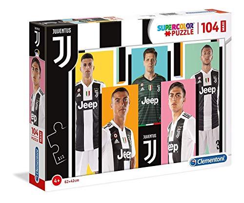Clementoni - 23725 - Supercolor Puzzle - Juventus - 104 Maxi Pezzi