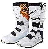 O ' Neal Rider Mx Motocross Supermoto Moto Stivali Neri 2015 - Bianco, 100-per cento - cotone - bordi elastici, 41