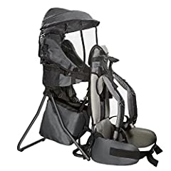 LIGHTWEIGHT AND COMFORTABLE: The lightweight frame only weighs 5.5 pounds yet is sturdy enough to be comfortable for both baby and adult for hours. The straps and hip belt are comfortably padded and the carrier features energy-absorbing lumbar paddin...