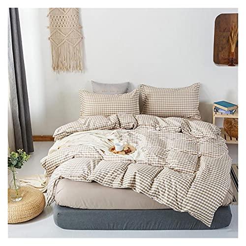 Apricot blossom Funda de edredón de 220 x 240 cm, 3 piezas, juego de cama, funda de edredón de 200 x 230 cm, funda de manta, sábana de cama, cama doble, tamaño King (color: C 5, tamaño: Queen)