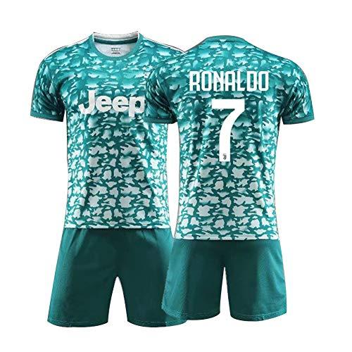 7# Ronaldo Voetbal Jersey pak voor kinderen Swingman Athlete's Jersey herenhemden + heren shorts wit pak mesh sneldrogend korte mouwen fans sweatshirt, kindergeschenk