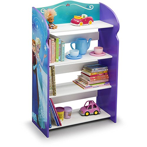 """Frozen Bookshelf Organizer Toy Storage Princesses Anna And Elsa Kid Bed Play Room Bin Box Book Shelf, Durable and easy-to-clean finish, Made of engineered wood 19.75""""L x 10.25""""W x 33""""H"""