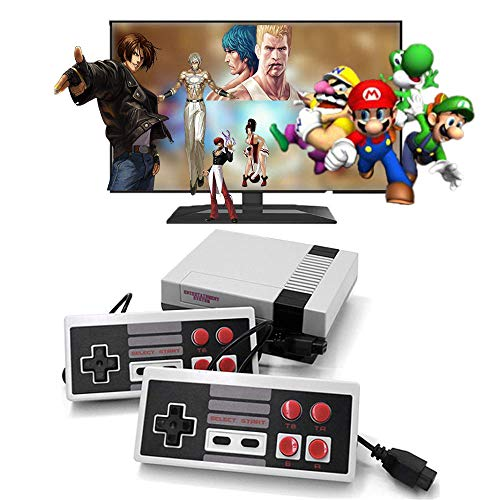 Scero Retro Video Game Console, Built-in 620 Games AV Output Video Games with 2 Controllers Handheld Games for Kids&Adults