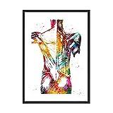 Füße drucken Skelett Aquarell Kunst Leinwand Poster