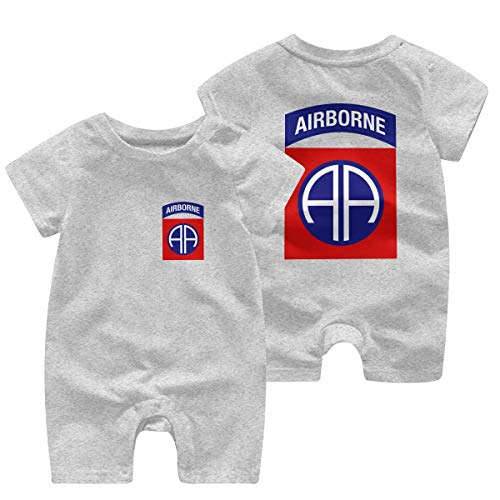 Susankley Cute 82nd Airborne Clothing Baby Onesies Bodysuits Kids Girls Boys Cotton Jumpsuit Romper Tollder Clothes Gray