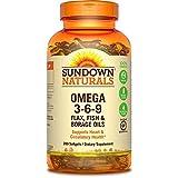 Sundown Naturals Triple Omega 3-6-9 Softgels, 200 ea (Pack of 2)
