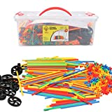 Smart Builder Toys Straw and Connector STEM Building Straws Toy 750 Piece Interlocking Educational Construction Engineering Play Set
